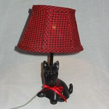 """Novelty Scottie Dog Accent Tabletop Lamp 10"""" Puppy"""