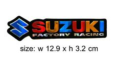 2x Suzuki logo Stickers 3D Motorcycles Decal Emblem decor Accessories Motocross