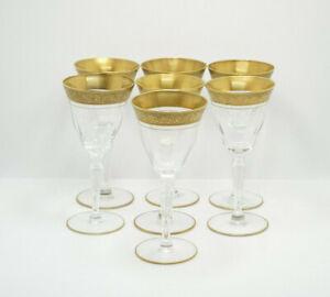 Tiffin Franciscan Optic Rambler Rose Gold Encrusted Crystal 7 Claret Wine Glass