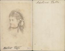La cantatrice italienne Adelina Patti Vintage albumen cdv print. Tirage albu
