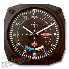 "New Trintec Classic VOR GLIDESCOPE LOCALIZER Wall Clock 6.5"" Sq Aviation Gift"