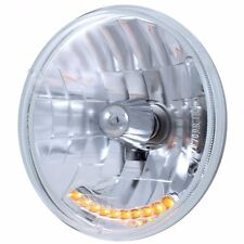 """(2) 7"""" Crystal Headlights / Lamps / with 10 LED Amber Marker Turn Signal Lights"""