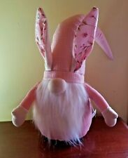 Gnome Easter Bunny Ears Gnome Odellette Pink Gnome New White Beard