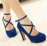 New Women Pumps Spring Summer Autumn Platform Suede Shoes Fashion  High Heels