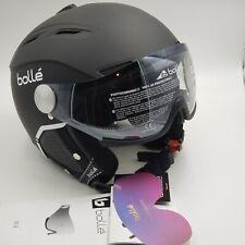 Ski helmet bollé backline visor premium/ Soft Black & White Large 59-61 CM