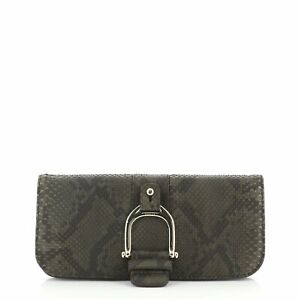 Gucci Greenwich Clutch Python and Leather