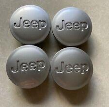 4 Pcs 55mm JEEP Silver Wheel Center Caps Logo Emblem Badge Hub Caps Rim Caps