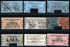 RHODESIA EARLY RAILWAYS TICKETS FINE USED LOT. SEE SCAN.  A476