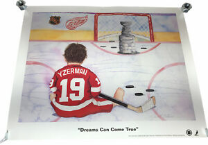 """Vintage 1997 Signed Kenneth Gatewood 19""""x25"""" Baby Yzerman Dreams Can Come True"""