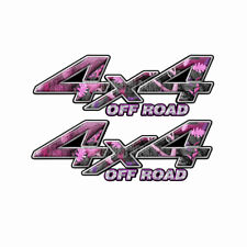 4x4 OFF ROAD Pink Obliteration Camo Truck Decal Sticker DODGE FORD KA002OR4