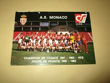 Carte postale cp postcard football equipe AS MONACO saison 1977-1978 dedicaces