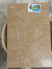 NUOVO Tavola Tavoletta legno compensato prestampata hobby mod fondale con pesci