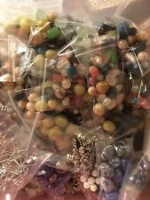 Med Flat Rate Box Full Of Jewelry Making Items Grab Bag Beads Accessories & More