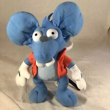 """The Simpsons Cartoon 10"""" Itchy & Scratchy Blue Mouse Plush Stuffed Animal"""