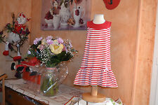 robe tartine et chocolat  3 ans matelot rouge blanc petit neoud PORT OFFERT