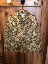 Westbound Jacket Brown Floral Cotton/Spandex Women's Size XL