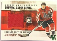 2009-10 ITG Heroes & Prospects Subway SS Jersey Silver Charles-Olivier Roussel