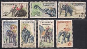 Laos   1958   Sc # 41-47   Elephants   MLH   OG   (1-308)
