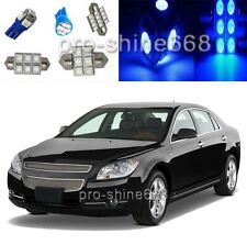 Blue LED Interior 9PCS Lights Package For 2008-2012 Chevrolet Chevy Malibu