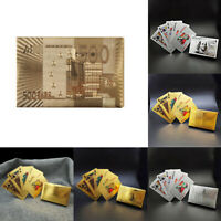 Playing Cards 24K Pure Gold Plated Poker Card Deck Gift Pack Multi Buy Offer 1x