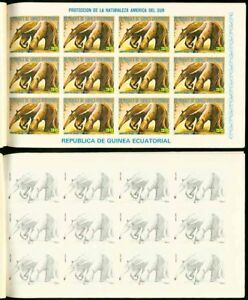 Equatorial Guinea 1977 Anteater proof sheets of 12 (x8)