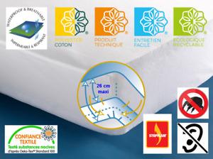 Protège-matelas alèse molleton imperméable respirant silencieux H30 qualité Pro