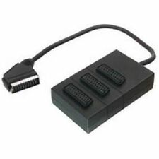 V7 (0.4m) SCART Splitter 3 Way - Black