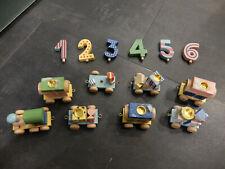 Toys Pure Geburtstagszug/ Birthday Train 1-6 Jahre Holz komplett! Top!