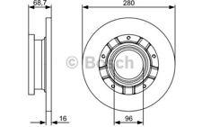 2x BOSCH Discos de Freno Traseros Pleno 280mm 0 986 479 401