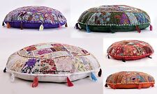 """5 PC Wholesale Lot  Patchwork Round Cushion Cover Floor Pillow Seating Pouf 32"""""""