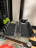 Vectrex Cartridge Holder Cart Stand Display Case 5 Cart 3D Printed (Black)