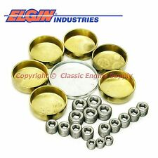 New EP843BR Elgin Brass Freeze Plug Kit 1991-2000 Chevy bb 454 427 366