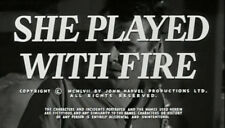 SHE PLAYED WITH FIRE, 1957, Jack Hawkins, Arlene Dahl thriller: DVD-R Region 2