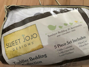 Sweet Jojo Designs 5 Piece Toddler Bedding Stag Deer White Stag-GY-WH-TOD