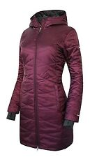 COLUMBIA WOMENS HOODED LONG OMNI HEAT INSULATED WINTER JACKET,RSPBRY XS
