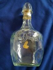 Jack Daniels Vintage MYSTERY OF THE BELLE OF LINCOLN Etched Glass Bottle