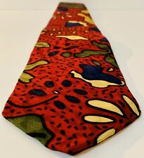 Memphis Milano GJ Sowden Tie Vintage Unique Design 100% Silk Made In Italy