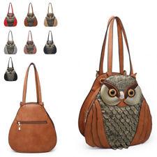 Ladies 3D Owl Shaped Handbag Faux Leather Owl Shoulder Bag Over Body Bag M34218