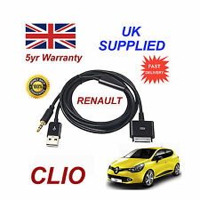 RENAULT CLIO Sistema Audio iPhone 3GS 4 4S IPOD USB & 3,5 mm AUX Cavo Nero