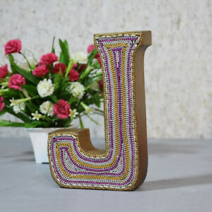 "Handmade Eco-Friendly Wall Décor ""J"" Alphabet Letter Block"