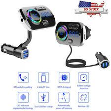 Bluetooth 5.0 FM QC 3.0 USB Charger Transmitter Handsfree Car Kit MP3 Player US