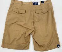 """Men's Khaki Chino Shorts Size 42 Madison Cassis Wash Cremieux 10"""" inseam New"""