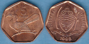 BOTSWANA 1998 5 THEBE KM-26 Copper-plated-steel UNC #108 - US Seller
