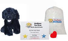 DIY Stuffed Animal Kit 8 Plush Black Lab Dog Ted Bear No Sew Compatible Webkinz