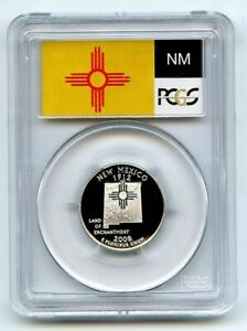 2008 S 25C Silver New Mexico Quarter PCGS PR70DCAM