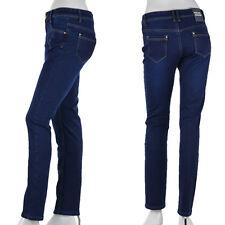 Damen Jeans Hose Winterhose Thermohose Winterjeans Fleece Gefüttert W30-42 Blau1
