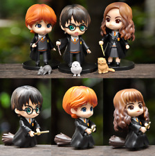 6PCS Harry Potter Hermione Ron 2 Pose Toys Kids Action Figure Display Colletion