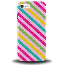 Colourful Stripes Phone Case Cover Multicoloured Multi Coloured Striped 285