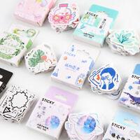 Scrapbooking  Cute Flower Paper Stickers Boxed Sticker Album Decor Diary Label