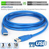 3/6ft/10ft Blue Hi-Speed USB 3.0 Type A Male To Male Extension Cable Cord 5Gbps
